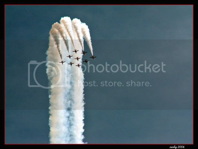picture of the Red Arrows