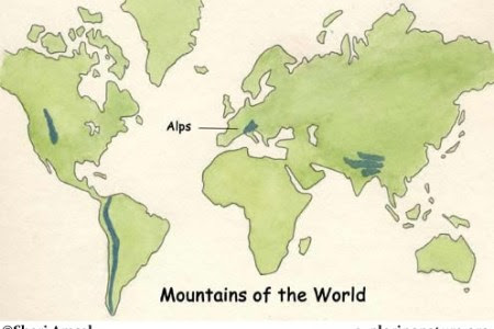 Alps On World Map Alps On World Map