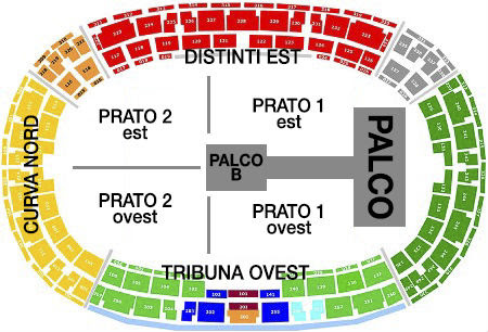 Cartina Stadio Olimpico Roma.Tecnologiaseiformaticass Mappa Stadio Olimpico Roma Concerti