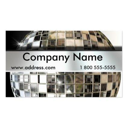 Big Mirror Ball Music Business Cards