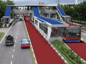 Projeto do BRT nas vias de Manaus  (Foto: Divulgação)