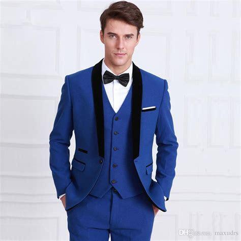 2017 Latest Coat Pant Designs Navy Blue Men Suit Slim Fit