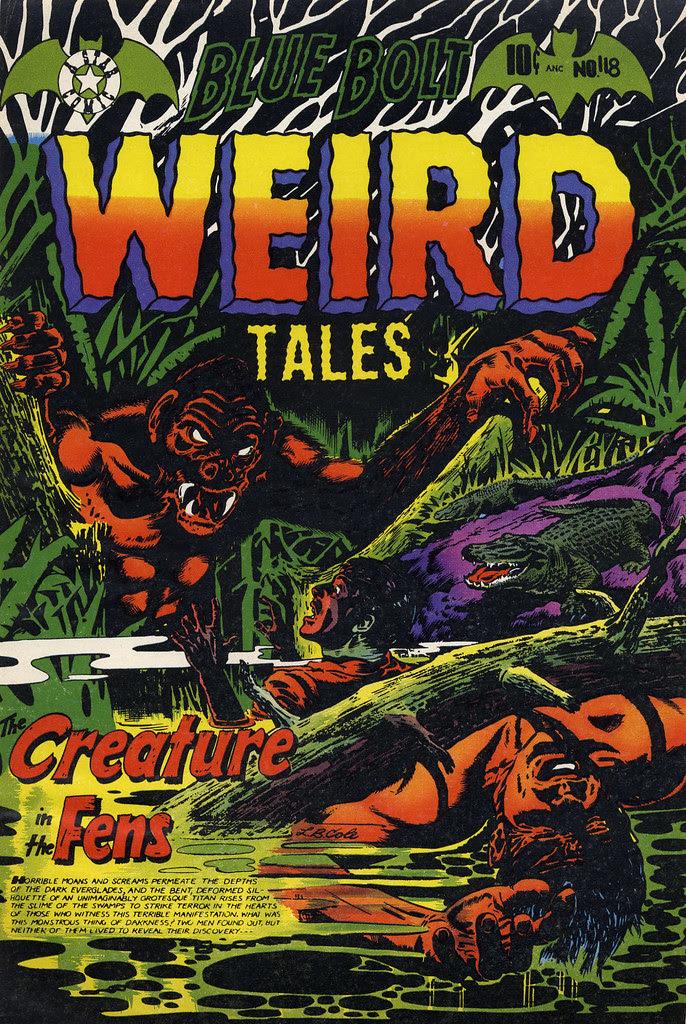 Blue Bolt Weird Tales #118 Cover Proof (Star Publications, 1953)