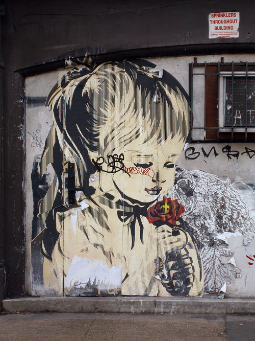 girl in graffiti, Manhattan
