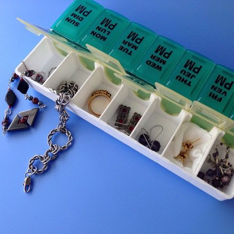 Pill Organizer as Travel Case for Jewelry - The Beading Gem's Journal