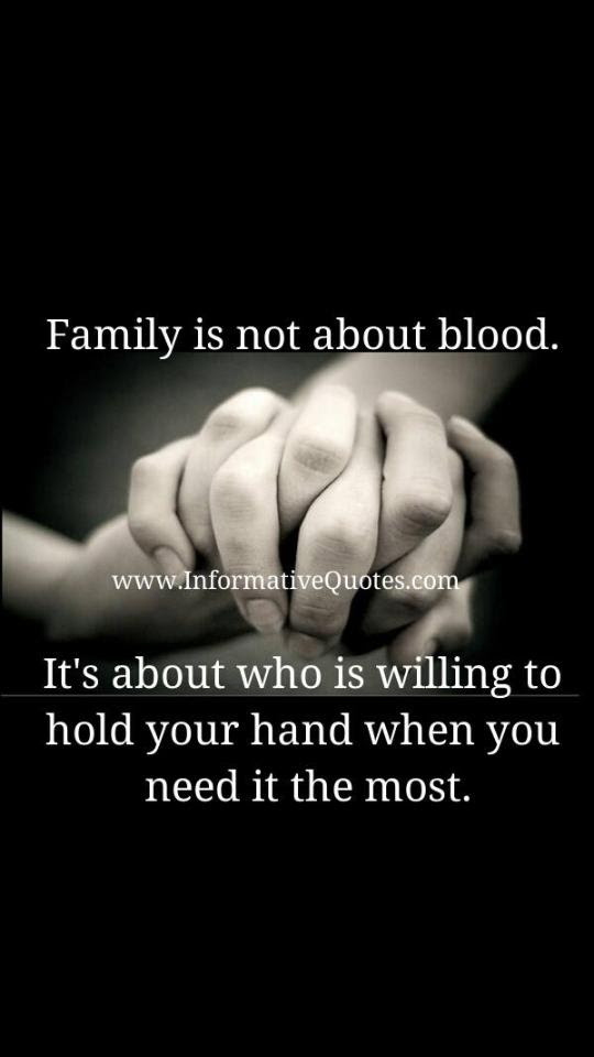 Family Is Not About Blood At 10millionmiler Quote Friendship