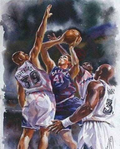 Tag and Dirk painting
