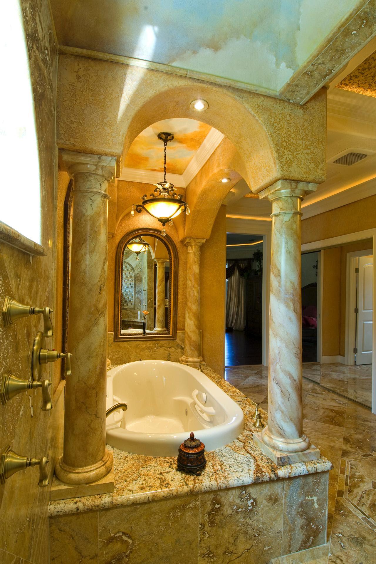 25 Tuscan Bathroom Design Ideas - Decoration Love