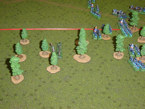 Carr's division finds advance through woods impeded by 12th Arkansas Sharpshooters