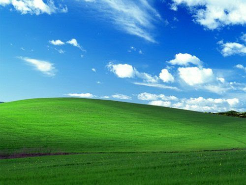 La historia del fondo de escritorio predefinido de Windows XP