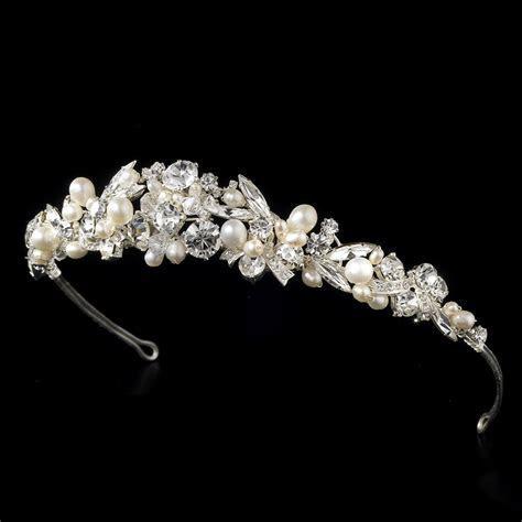 Wholesale Freshwater Pearl & Crystal Bridal Tiara Headband