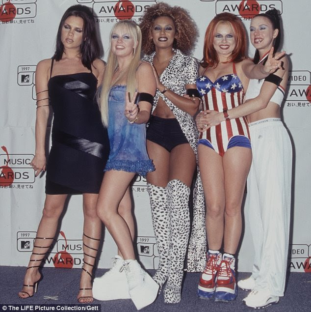 Origins: Flatforms are a later version of the iconic platform sneakers often worn by The Spice Girls, pictured in 1990