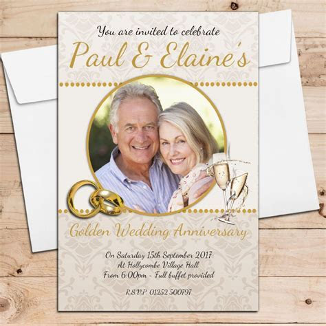 10 Personalised 50th Golden Wedding Anniversary