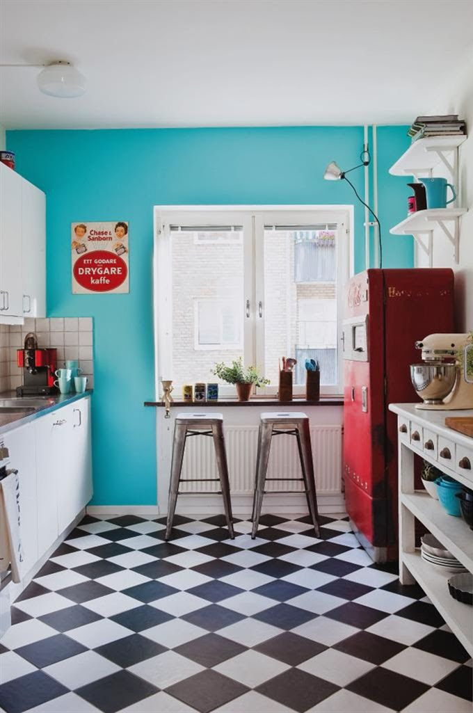 Retro kitchen.