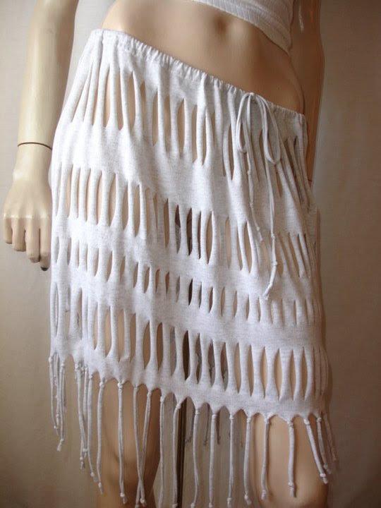 юбка из футболки