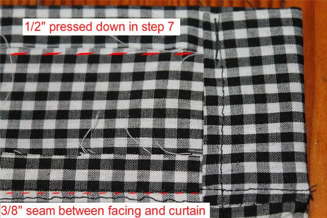 How to make café curtains