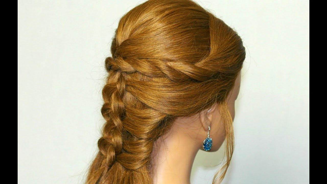 Mermaid braid hairstyle tutorial for medium long hair ...