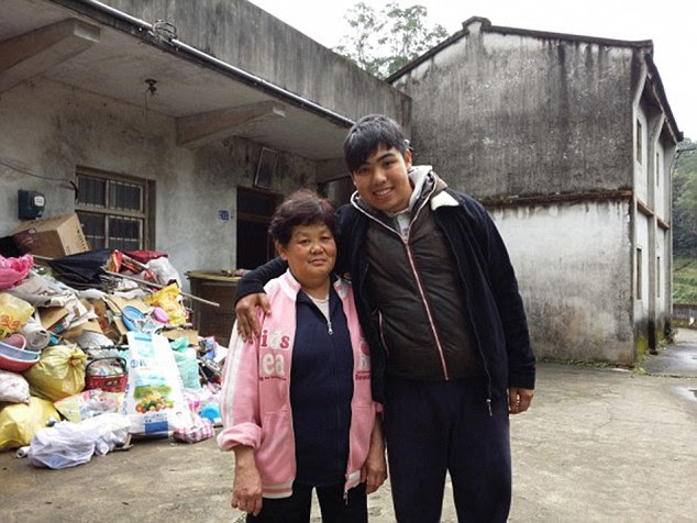 Dependants: Chen Hongzhi with his mother Wang Miao-chiong, who starts the day by handing Chen his notebook and reminding him he is no-longer 17. They are reliant on each other following the recent death of his father