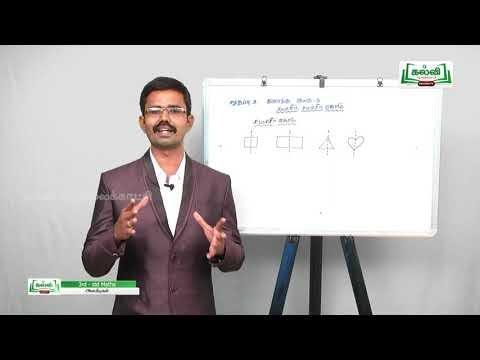 3rd Maths சமச்சீர், சமச்சீர் கோடு அலகு 3 பகுதி 2 Kalvi TV