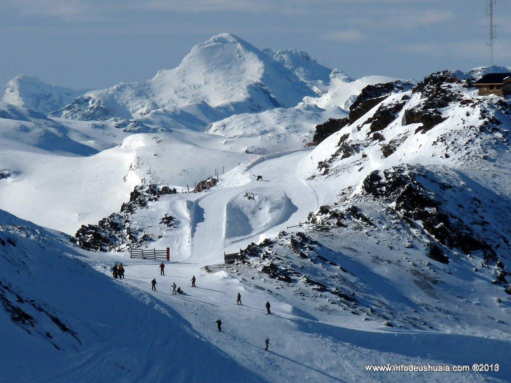 Ski slope at Cerro Castor, Ushuaia, Argentina.