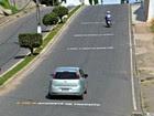 Frases em ruas alertam motoristas (Adelcimar Carvalho/G1)