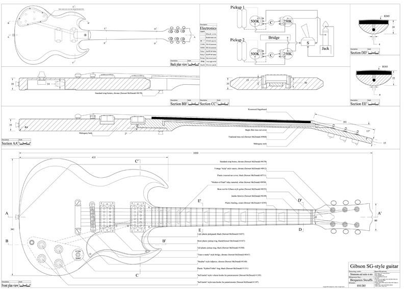 modern les paul wiring diagram guitarren sg blueprint  guitarren sg blueprint