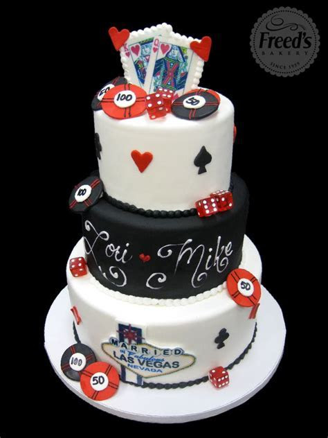 Las Vegas Themed Wedding Cake   Bakery Dreams   Pinterest