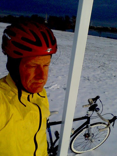 Me and bike in snow