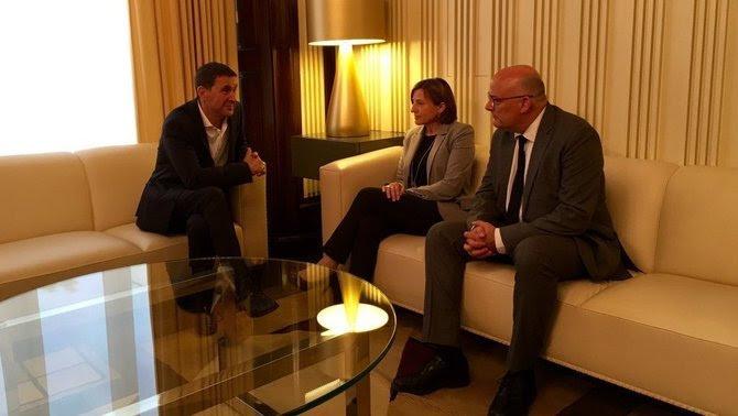 Otegi, reunit amb la presidenta del Parlament, Carme Forcadell