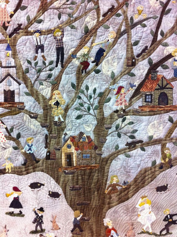 Family Tree by Osami Gonohe, detail. 2013 Tokyo International Quilt Festival, photo by A Quilter By Night