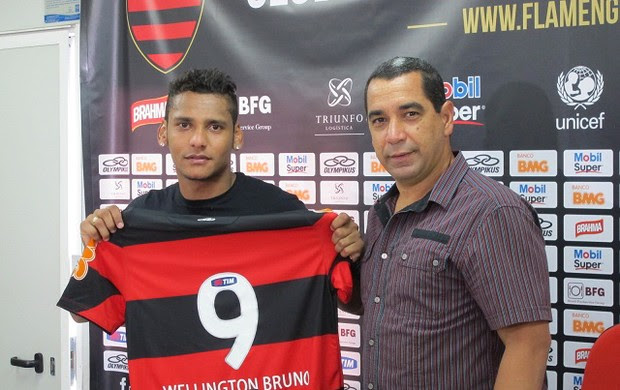 Wellington Bruno apresentação Flamengo (Foto: Richard Souza / Globoesporte.com)