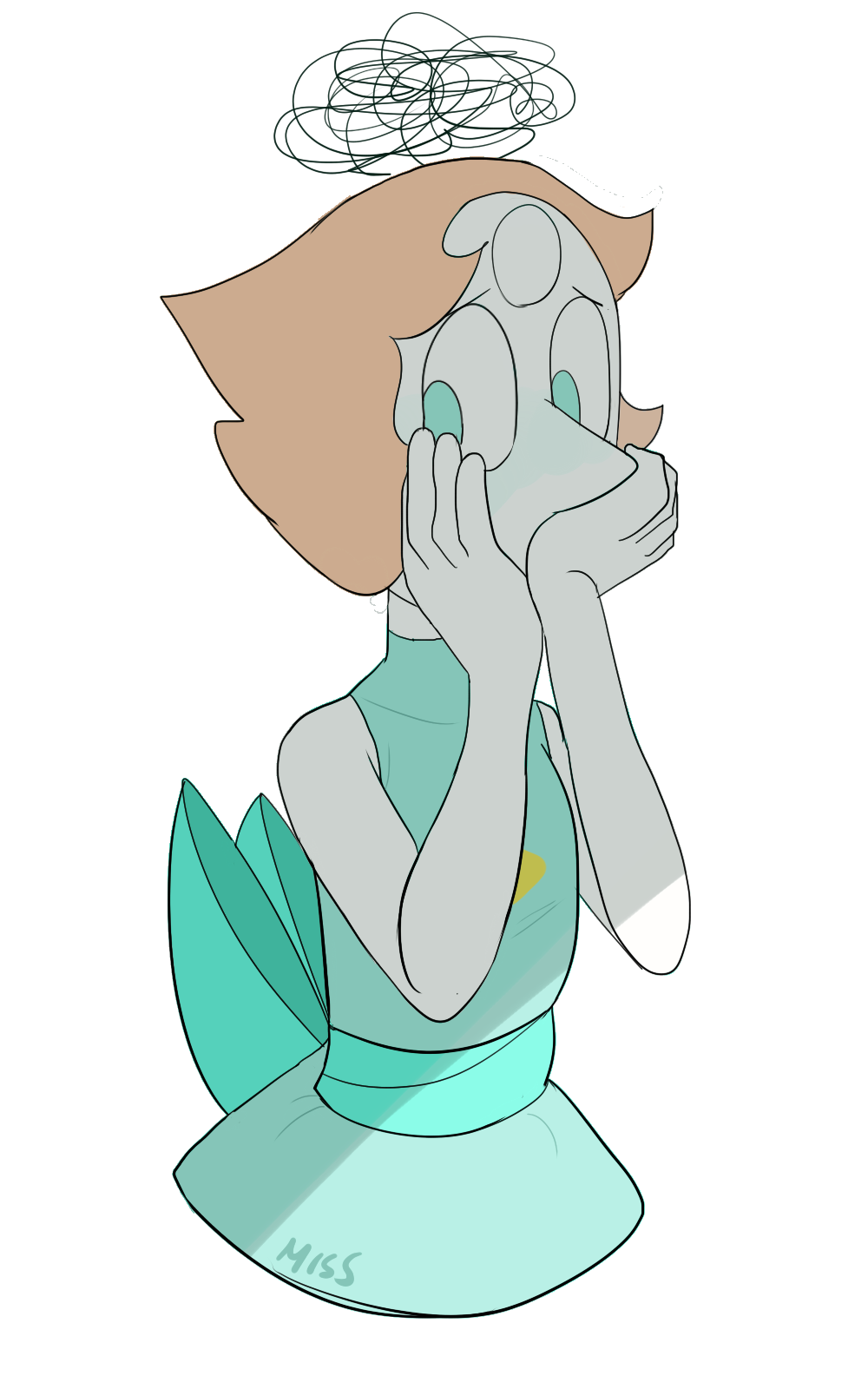 now is time for one of my most classic drawings: sad pearl