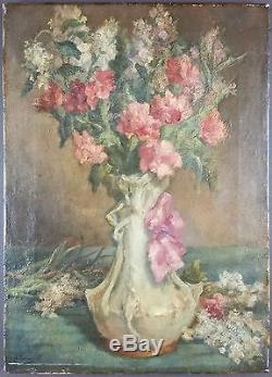 Louis Evenepoel Xixe Ancien Tableau Peinture Huile Antique Oil
