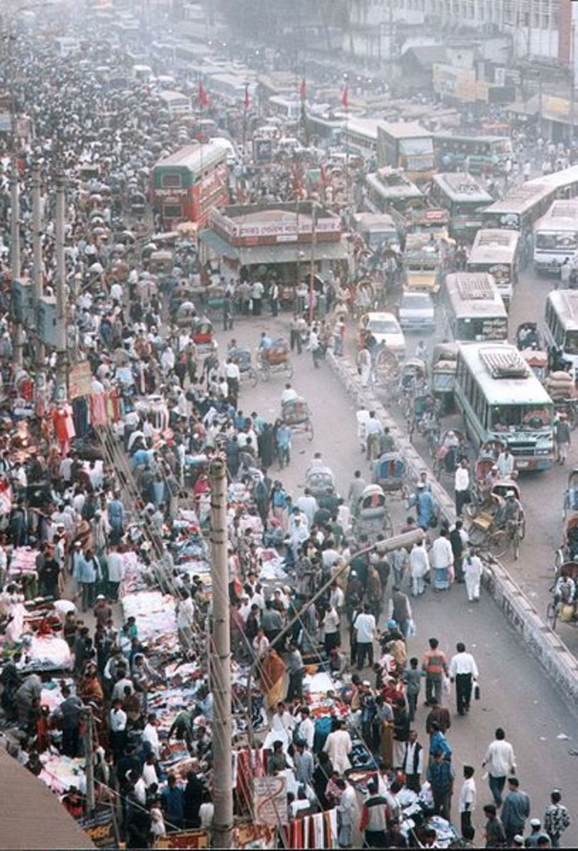 Dhaka, Bangladesh is among the most overcrowded cities in the world. It makes you think how on earth people can hear what they are thinking.