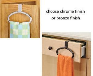 OVER the Cabinet door kitchen bathroom hand hanging towel ...