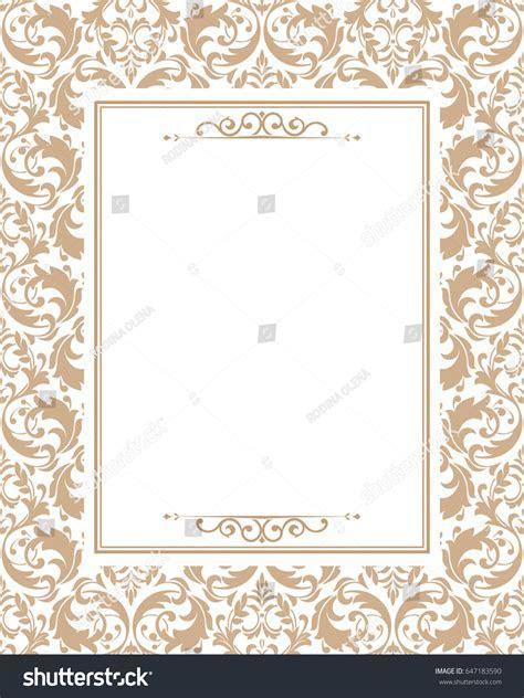 Invitation Wedding Card Vintage Floral Design Stock Vector