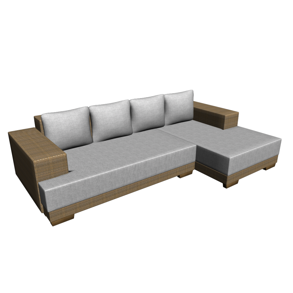 L-Form Sofa - Design and Decorate Your Room in 3D
