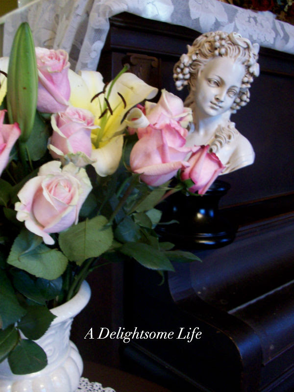 Fragrant Lilies and Roses b