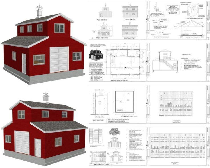LosKy: Well-known Gambrel barn plans with loft