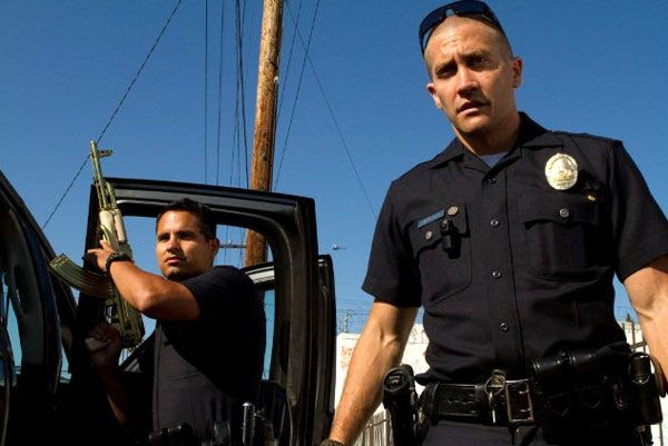 Jake Gyllenhaal and Michael Peña play two officers of the Los Angeles Police Department in END OF WATCH.