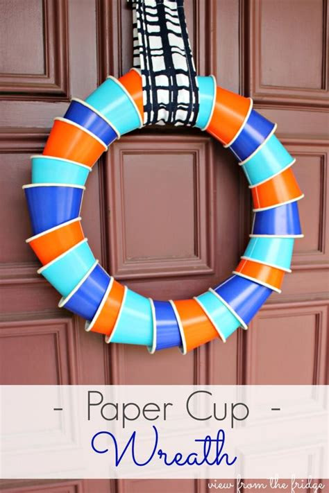 paper cup wreath    toy box summer