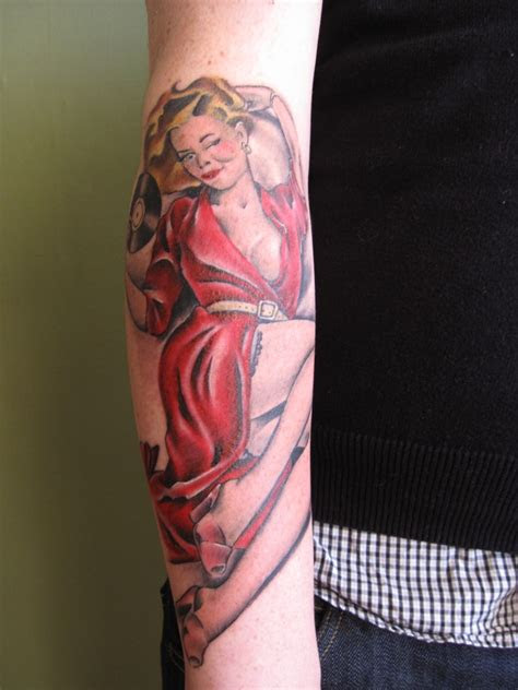 pinup girl tattoo design ideas meanings