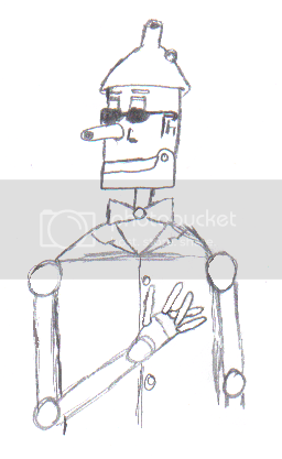 Note the lack of detail on his fingers: I tried putting in joints, but then it didn't look like he had his fingers crossed, so I erased and drew again.