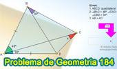 Problema de Geometría 184 (ESL): Triangulo, Cuadrilátero, Ángulos, Congruencia, Líneas Auxiliares.