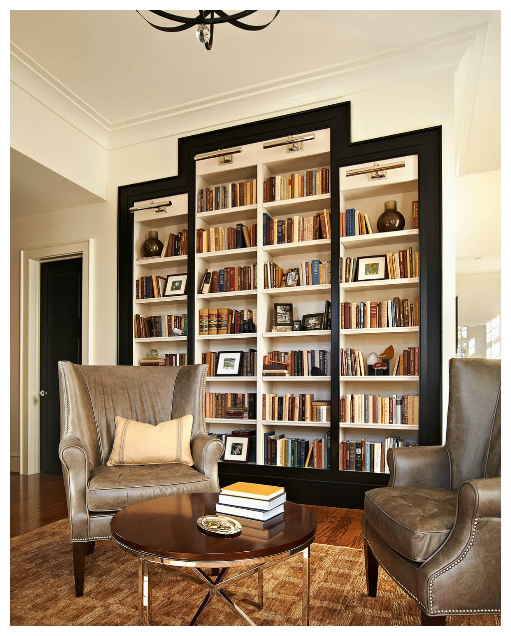 Bookshelves Study At Ncstate Chancellors House Design Lines Ltd