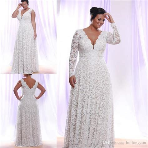 Cheap Full Lace Plus Size Wedding Dresses With Removable