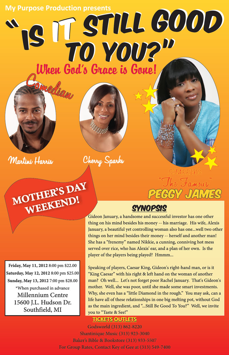 CLICK TO BUY TICKETS ONLINE FOR 'Is It Still Good To You?' featuring Comedian Martini Harris, 'The Famous Peggy James' & Cherry Sparks
