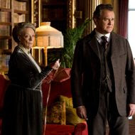 Downton Abbey Season 2 on MASTERPIECE Classic Part 7 - Sunday, February 19, 2012 at 9pm ET on PBS                      Shown from L-R: Maggie Smith as the Dowager Countess and Hugh Boneville as Lord Grantham (C) Carnival Film & Television Limited 2011 for MASTERPIECE This image may be used only in the direct promotion of MASTERPIECE CLASSIC. No other rights are granted. All rights are reserved. Editorial use only.