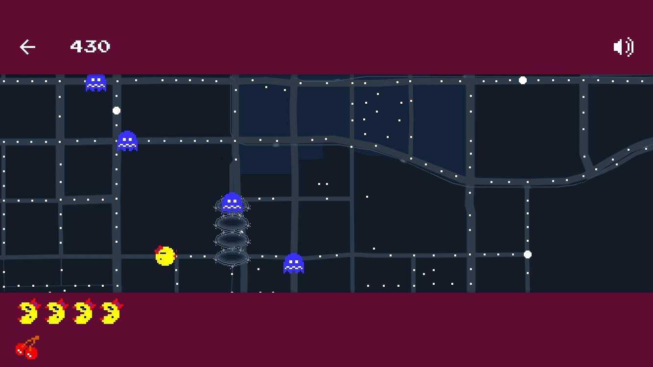 Ms Pac Man Invades Google Maps For April Fools Cult Of Mac