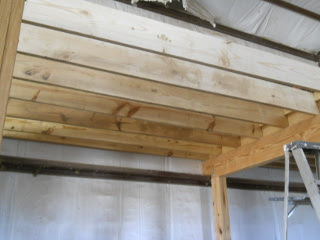 Barn Loft Next Floor Joists in Place